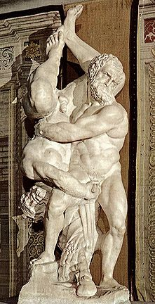 Hercules and Diomedes statue in Florence, Italy
