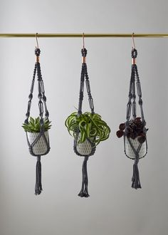 Handmade Macrame Plant Hanger by geofleur on Etsy Cacti And Succulents, Hanging Planters, Floral Style, Ceramic Vase, Air Plants, Soy Candles, Plant Hanger, Geo, Macrame