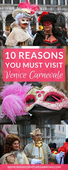 10 Reasons You'll Want To Visit Venice During Carnevale  ·  Discover why you will want to travel to Venice, Italy during the incredible festival of Carnival. From the beautiful Venetian masks to the colorful costumes and celebrations, you'll want to plan a trip to this amazing Italian tradition ASAP!