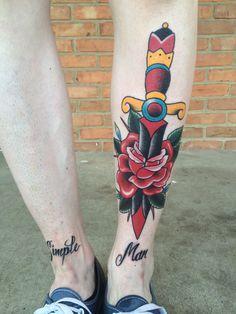 love th dagger and rose idea