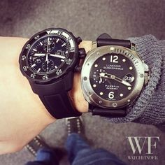 Perfect for a dip in the big drink #IWC and #Panerai