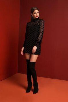 Shimo Dress - Velvet Dot