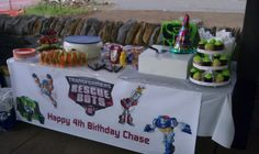 Transformer Rescue Bots Birthday Party