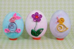 Quilling Easter eggs