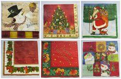 Pack de 6 servilletas navideñas para decoupage por ElTallerdeIre
