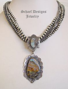 Schaef Designs Boulder Opal (Sunset Colors) & Sterling Silver Pendant | Southwestern & turquoise Jewelry | New Mexico