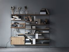 String System shelving. Available in Australia from Great Dane Furniture.Photography byMarcus Lawett