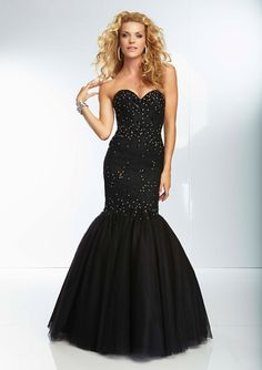 Prom Dress From Paparazzi By Mori Lee Style 95039 Beaded Lace And Tulle Mermaid Prom Gown