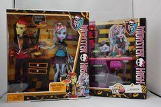 Monster High Doll Home Ick Lot 2 Heath Burns Abbey Bominable Classroom Playset   eBay