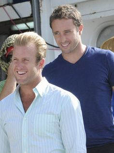 Scott Caan and Alex O'Loughlin - <3 these guys on Hawaii 5-0