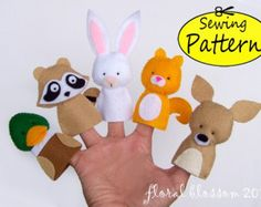 Digital Pattern: Sea Creatures Felt Finger by FloralBlossom
