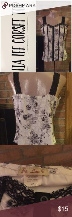 Lia Lee Corset Top This is for a Lia Lee corset top. EUC. 20 inches across, 17 inches long. Lia Lee Tops