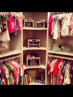 This baby closet will be a must have in my house...it's adorable! (Thank you Megan M for some inspiration)