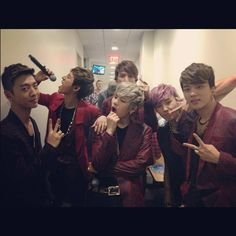 B.A.P NYC <3!  (just had to point out that even Daehyun<3 looks like he's going to eat the microphone!) <3