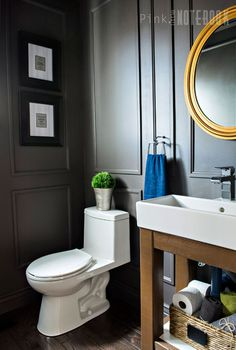 A little molding — and a daring wall color — offer the space a new 'tude.