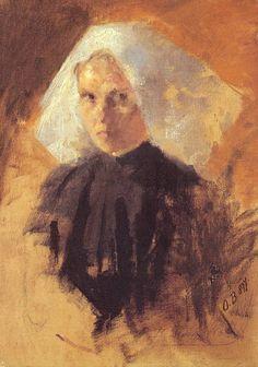 Retrato de una monja - Olga Boznanska - 1897