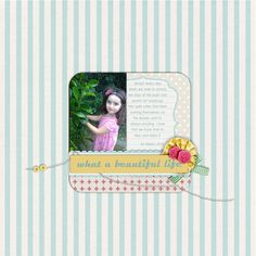 i like the photo/journaling card combo with the rounded corners