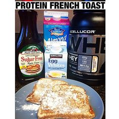 Protein French Toast! So simple. I just whisked together egg whites, almond milk, a hint of stevia and @cellucor Cinnamon Swirl protein powder (which tastes like the cereal Cinnamon Toast Crunch!  Use my code:MCKENZIE for 25% off). Dip your bread. (I used Sara Lee 45 calorie)Throw it on the frying pan. Then top with sugar free syrup!! #cellucor #proteinfrenchtoast #Padgram
