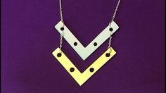 DIY Hardware Jewelry - You can create unique and custom jewelry using metal brackets from the hardware store! Get clever DIY tips for making your own necklaces and bracelets.