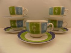 Vintage 10 pc Luminarc tea espresso demitasse by TheCherishedHeart