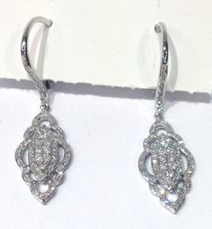 Vintage Style Diamond Earrings