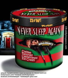 Never Sleep Again Ben & Jerry's Horror Movie Ice Cream Flavors Flavor Ice, Ice Cream Flavors, I Love Coffee, My Coffee, Coffee Truck, Coffee Corner, Starbucks Coffee, Coffee Beans, Coffee Drinks