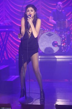 Star power: The entertainer gave it her all as she performed on The Tonight Show...