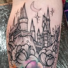Eek!! Cute wee Hogwarts Castle for Debra today. Freehand floral bits. Above a watercolour rose I did a while back. Thanks for sitting so…