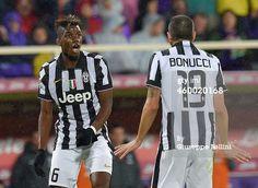 Paul Pogba and Leonardo Bonucci of Juventus FC...