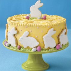 Kids love our cheerful Easter Bunny Cake.