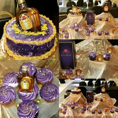 Crown Royal theme 70th Birthday Party