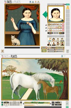 Faces and Places - American folk portraits and landscapes Interactive from National Gallery Kids