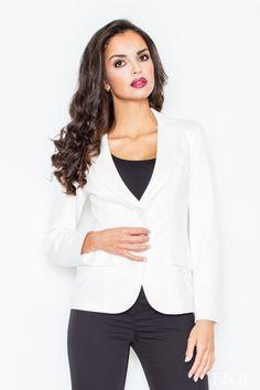 Figl - dámske letné sako v rôznych farbách, skvelo ním doplníte akýkoľvek outfit, športovo elegantný, elegantný alebo aj rockový. Variabilnosť a využitie zaručené.  Dodacia doba cca 10 pracovných dní. Veľkostné tabuľky
