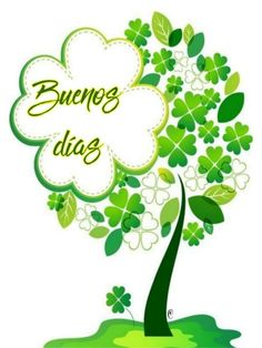 ♡¡Buenos días!♡ Good Day Quotes, Morning Quotes, Daily Quotes, Morning Thoughts, Good Morning, San Patrick Day, Lucky Plant, Prayers For Healing, Good Night Image