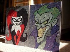 Harley Quinn and Joker by Glitterside on DeviantArt Joker Et Harley Quinn, Harley Queen, Joker Art, Comic Art, Canvas Art, Mini Canvas, Geek Stuff, Sketches, Drawings