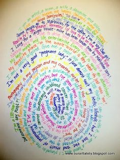 """Maybe with each childs answer to a question? """"Why do you love your mom? or """"what's your favorite thing about Coronado?"""" 's heart art: Holley Portraits Teaching Poetry, Teaching Writing, Middle School Art, Art School, High School, I Am Poem, Stem Challenge, 5th Grade Writing, Fingerprint Art"""