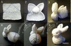 ARTESANATO FOFO: Coelhinho de trico