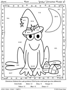 math worksheet : 1000 images about math on pinterest  place values skip counting  : Halloween Subtraction Worksheets