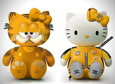 Hello Kitty Garfield and Kill Bill