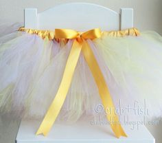 diy tutu with elastic waist and satin ribbon wrapped around