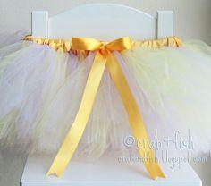 diy tutu with elastic waist and satin ribbon wrapped around