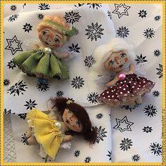 Купить Текстильные брошечки-ангелы - желтый, однотонный, брошь ручной работы, брошь текстильная