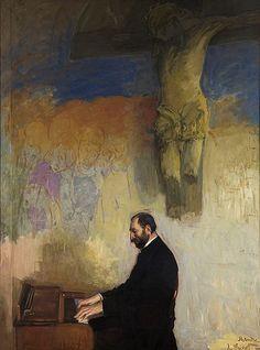 File:Leon Wyczółkowski - Portret Feliksa Jasieńskiego przy organach 1902.jpg