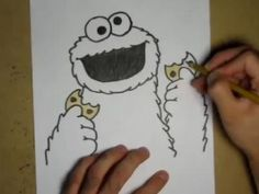 How to Draw Cookie Monster OMG I LOVE COOKIE MONSTER!!!_snyder