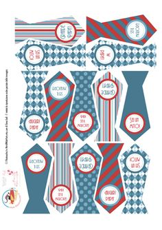 Decorazioni per la Festa del Papà: etichette per regali e bigliettini da stampare per decorare regali e oggetti.