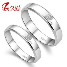 925 sterling silver rings women rings couple rings silver jewelry Clover Men Couple rings valentine