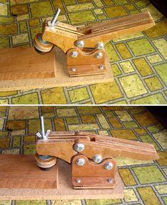 Prensa rápida hecha en casa (Homemade toggle clamp). Modelo de Izzy Swan.