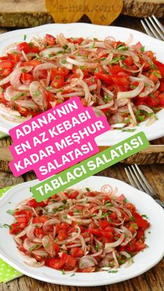 Healthy Dinner Recipes, Great Recipes, Cooking Recipes, Turkish Salad, Turkish Recipes, Ethnic Recipes, Yummy Food, Tasty, Food Dishes