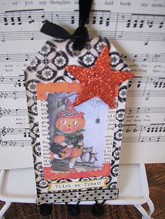 Halloween collage tag