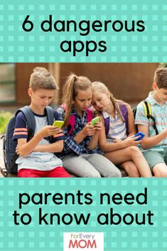 More than just SnapChat: here are 6 newer dangerous apps kids LOVE, that are very risky for them to use. Know what they are and what to look for, parents!